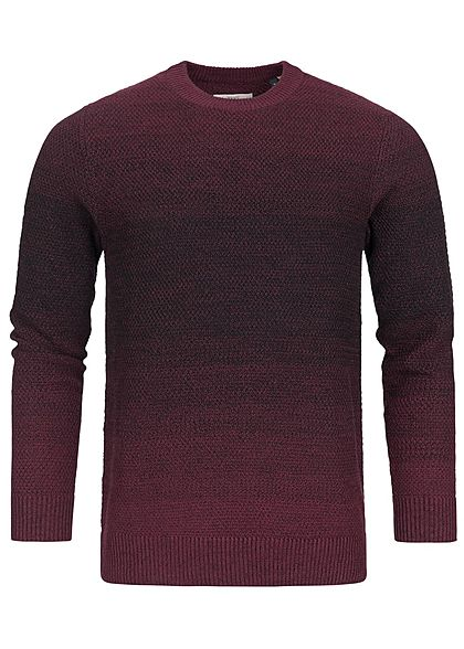 Jack and Jones Herren Sweater 2-Tone top port royal bordeaux