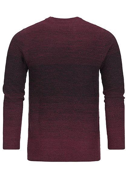 Jack and Jones Herren Sweater 2-Tone top port royal bordeaux
