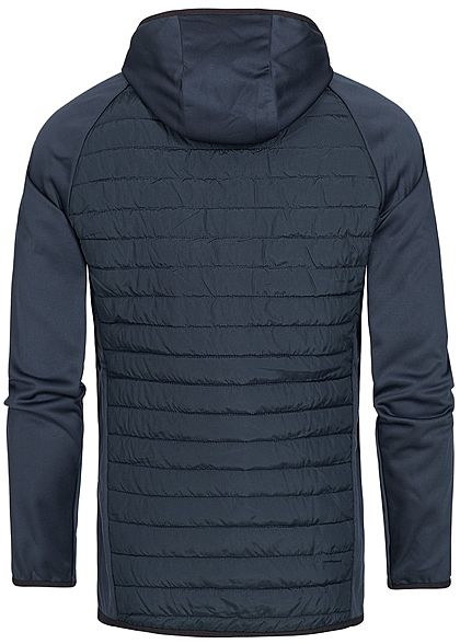 Jack and Jones Herren NOOS Steppjacke Kapuze sky captain dunkel blau