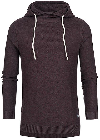 Jack and Jones Herren Hoodie Kapuze port royal bordeaux rot - Art.-Nr.: 18113742