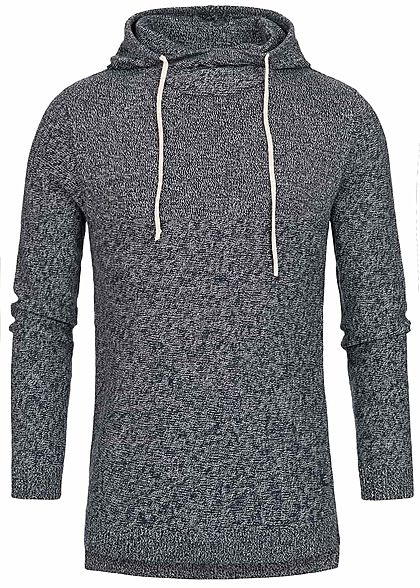 Jack and Jones Herren Hoodie Kapuze hell grau blau melange - Art.-Nr.: 18113744