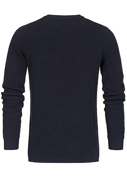 Jack and Jones Herren Sweater Struktur-Stoff sky captain blau