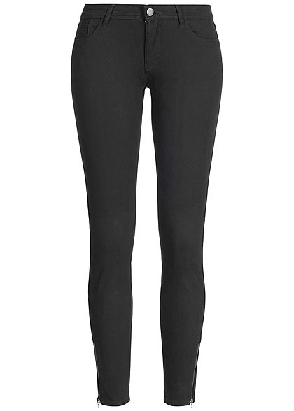 JDY by ONLY Skinny Jeans Hose 5-Pockets Knöchellang Zipper schwarz -  77onlineshop 0e62d8df46