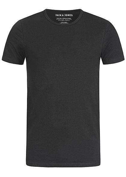 1f66ddf4fa01ea Jack and Jones Herren Basic T-Shirt NOOS schwarz - 77onlineshop