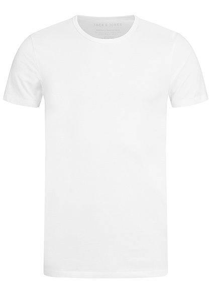 Jack and Jones Herren Basic T-Shirt NOOS optical weiss