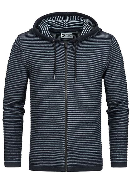 Jack and Jones Herren Cardigan Strickjacke Kapuze Struktur Muster sky captain blau