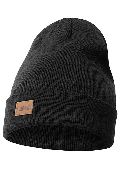 Seventyseven Lifestyle TB Long Beanie Frontpatch schwarz