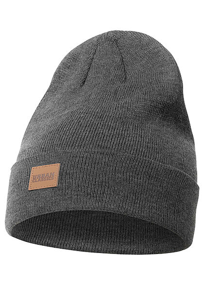 Seventyseven Lifestyle TB Long Beanie Frontpatch dunkel grau