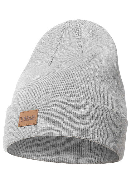 Seventyseven Lifestyle Long Beanie Frontpatch hell grau