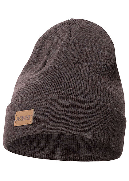 Seventyseven Lifestyle TB Long Beanie Frontpatch dunkel braun