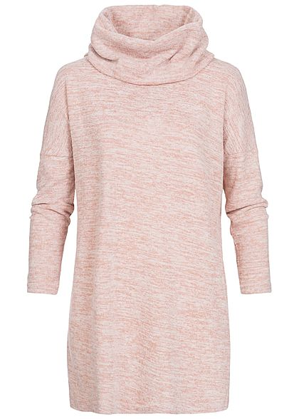 Seventyseven Lifestyle Damen Longform Sweater rosa