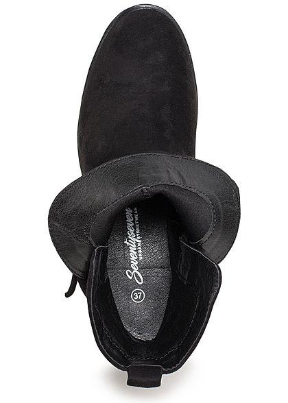 Seventyseven Lifestyle Damen Schuh Stiefelette Kunstleder schwarz