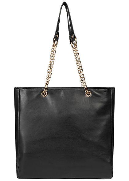 Hailys Damen Handtasche Kunstleder schwarz gold