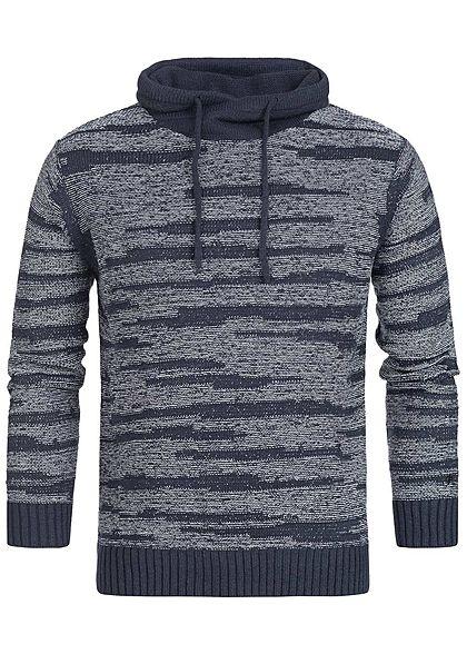 96477c30e7b77 Hailys Men High-Neck Sweater navy blau weiss - 77onlineshop