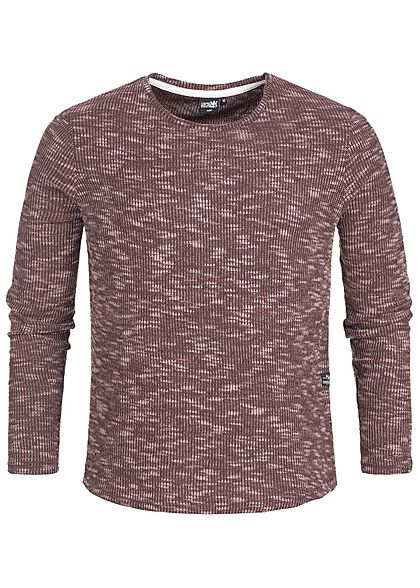 Hailys Men Sweater Struktur-Stoff wine bordeaux rot