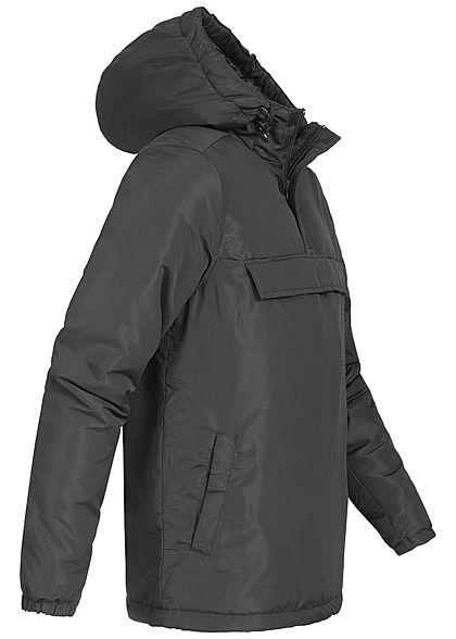 Hailys Herren Windbreaker Jacke Kapuze 3 Taschen schwarz