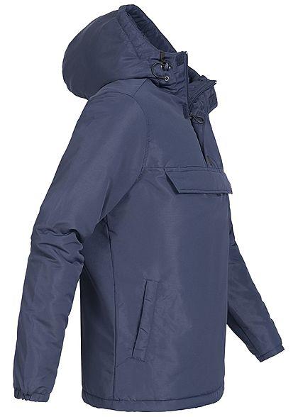 Hailys Herren Windbreaker Jacke Kapuze 3 Taschen navy blau