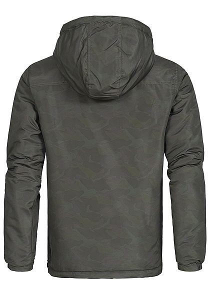 Hailys Herren Windbreaker Jacke Kapuze 3 Taschen camouflage