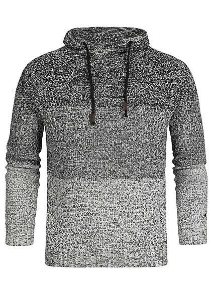 Hailys Men High-Neck Sweater 2-Tone schwarz grau