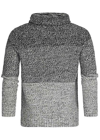 Hailys Men High-Neck Sweater 2-Tone schwarz grau