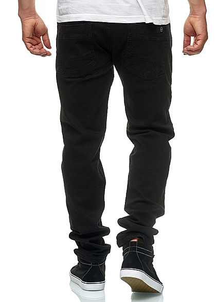 Hailys Herren Regular Fit Jeans Hose 5-Pockets schwarz denim