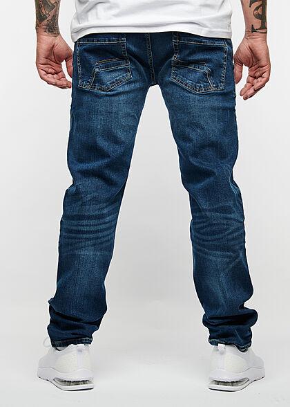 Hailys Herren Regular Fit Jeans Hose 5-Pockets dunkel blau denim