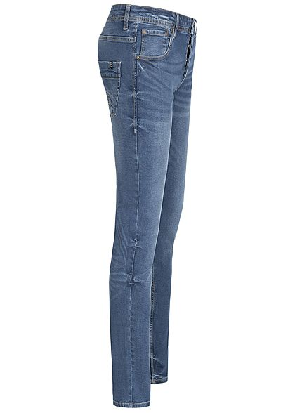 Hailys Herren Regular Fit Jeans Hose 5-Pockets medium blau denim
