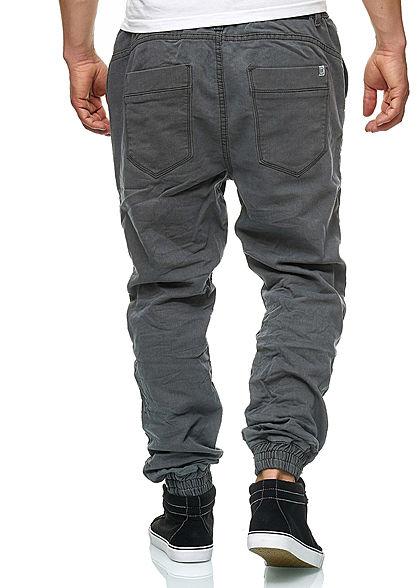 Hailys Herren Relaxed Fit Jeans Hose Sweat Pants 4- Pockets dunkel grau denim