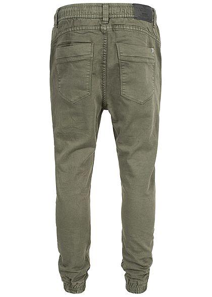Hailys Herren Relaxed Fit Jeans Hose Sweat Pants 4-Pockets khaki grün denim