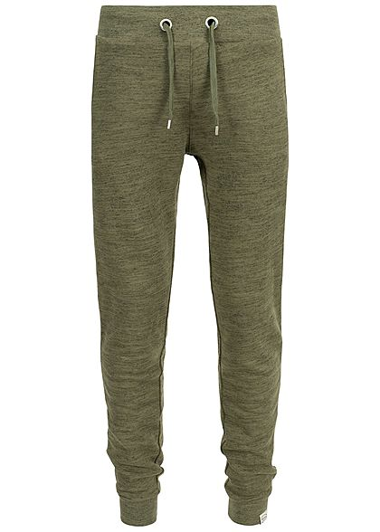 Hailys Men Sweat Pants Hose 3-Pockets khaki grün melange