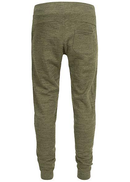 Hailys Herren Sweat Pants Hose 3-Pockets khaki grün melange