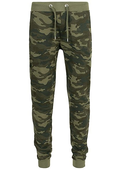 Hailys Men Sweat Pants Hose 3-Pockets camouflage grün