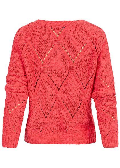 ONLY Damen Soft Grobstrick Pullover geranium dunkel pink