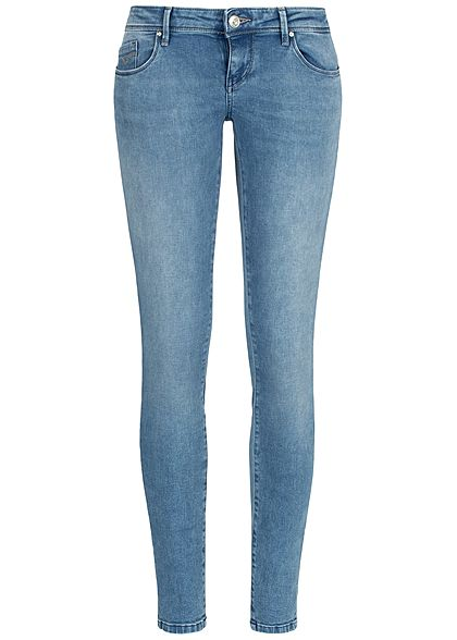 ONLY Damen Skinny Jeans Hose Super Low Waist 5-Pockets NOOS hell blau denim