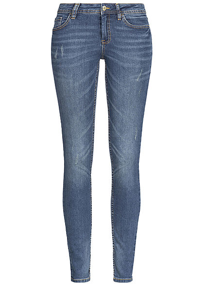 JDY by ONLY Damen Skinny Jeans Hose 5-Pockets NOOS medium blau denim