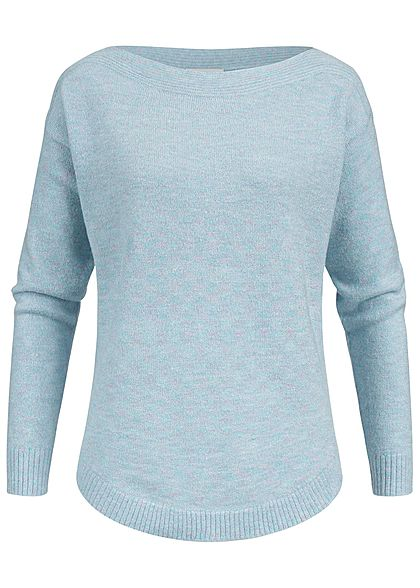 JDY by ONLY Damen Sweater Glitzer Allover cashmere blau