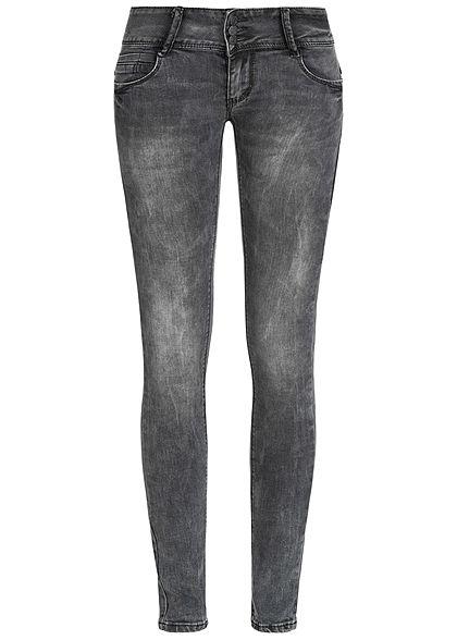 10526d4053523d Seventyseven Lifestyle Damen Jeans Hose 3er-Knopfleiste 5-Pockets schwarz  denim - 77onlineshop