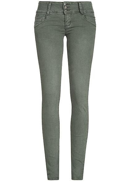 jeans hose grasgrün 3 4 damen