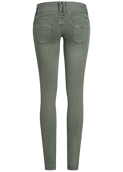 Seventyseven Lifestyle Damen Jeans Hose 3er-Knopfleiste 5-Pockets khaki denim