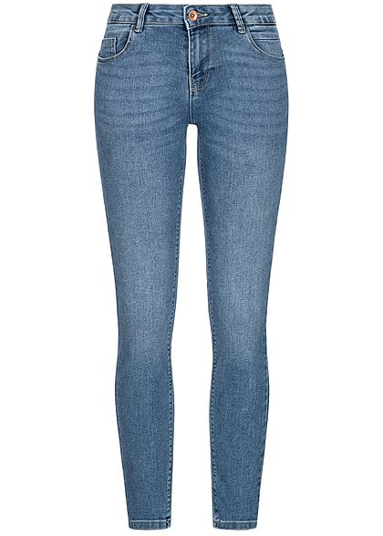 ONLY Damen Pushup Skinny Jeans Hose 5-Pockets Regular Waist NOOS hell blau denim