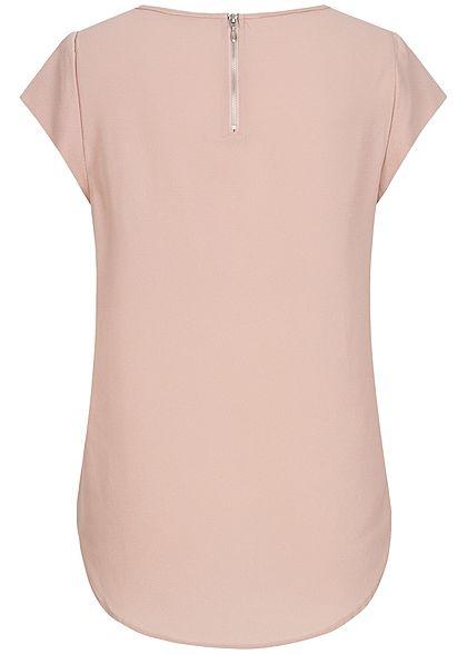 ONLY Damen Solid Blouse Shirt Zipper NOOS pale mauve rosa