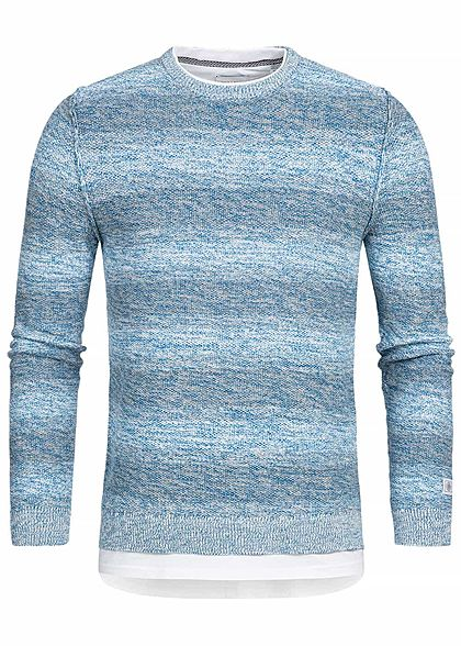 ONLY & SONS Herren Sweater 2in1 Optik Imperial blau