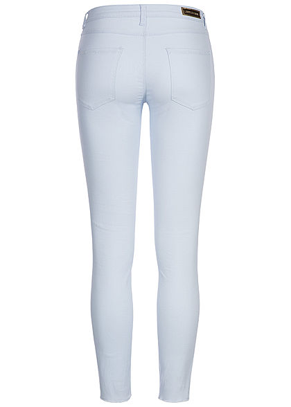 JDY by ONLY Damen Skinny Jeans Hose 5-Pockets Knöchellang heather blau