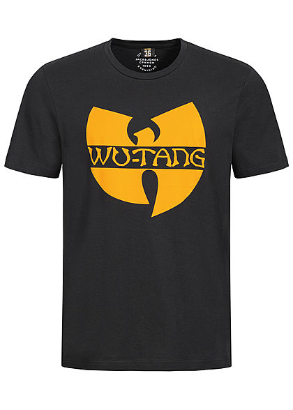 Jack and Jones Herren T-Shirt Wu-Tang Print Oversized tap shoe schwarz