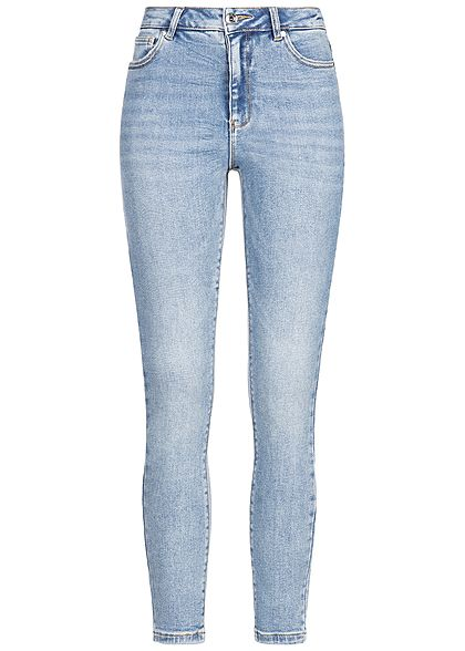 ONLY Damen Skinny Ankle Jeans Hose 5-Pockets High-Waist NOOS hell blau denim