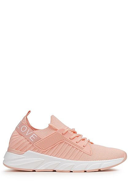 Seventyseven Lifestyle Damen Schuh Running Sneaker Mesheinsatz rosa weiss