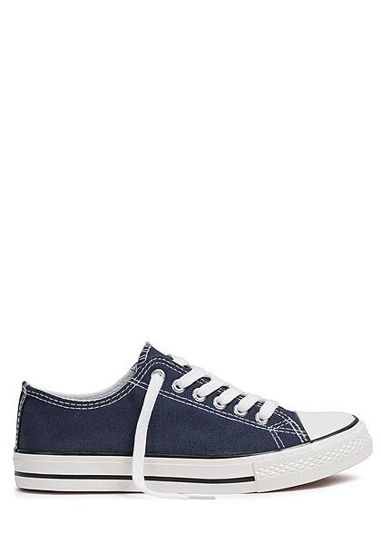 Seventyseven Lifestyle Damen Schuh Canvas-Sneaker navy blau