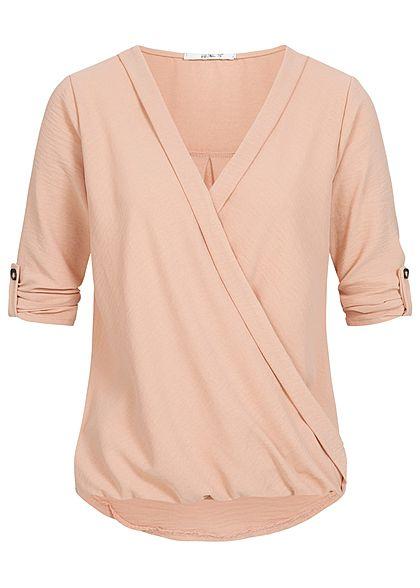 50ab9a7acd3e2e Styleboom Fashion Damen Bat Wings Structure Heart Shirt coral dunkel ...
