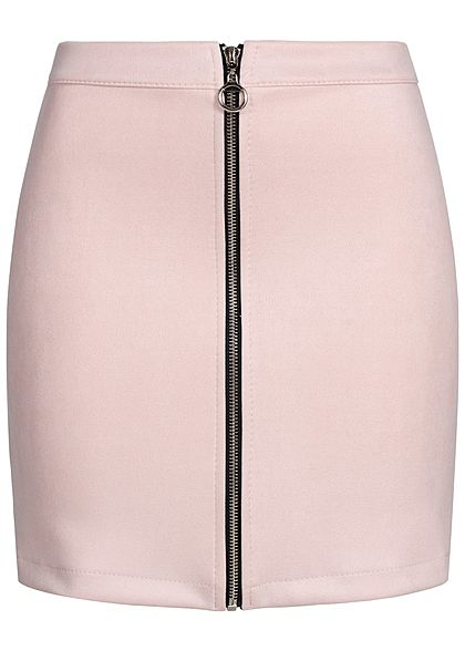 Hailys Damen Velour Skirt Zipper rosa