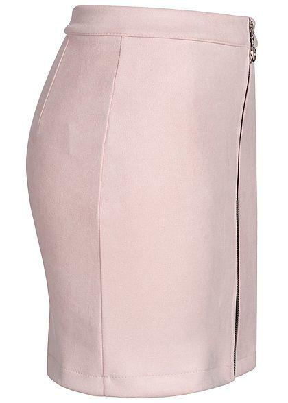 Hailys Damen Velour Skirt Zipper rosa